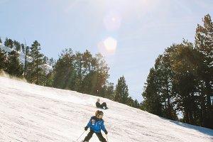 ski in the mountains