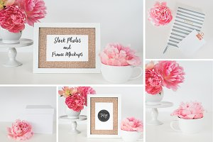 Stock Photo+Frame Mockup | 5 Images
