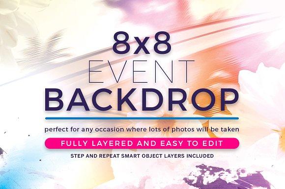 backdrop design for event designtube creative design content. Black Bedroom Furniture Sets. Home Design Ideas