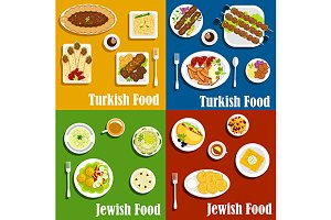 Jewish and turkish cuisine