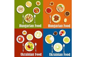 Hungarian and ukrainian cuisine