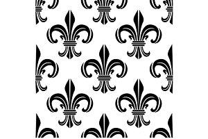 Vintage royal fleur-de-lis pattern