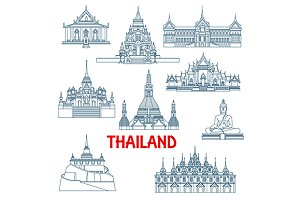 Travel landmarks of Thailand