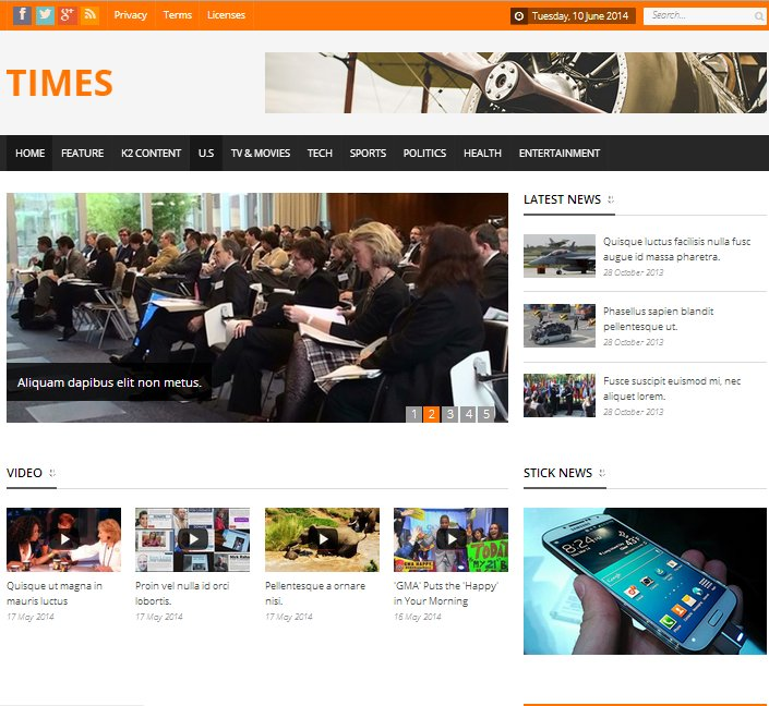 Times news magazine template joomla themes creative market maxwellsz