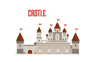 Fantasy royal castle building