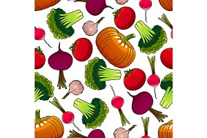 Organic farm harvest pattern