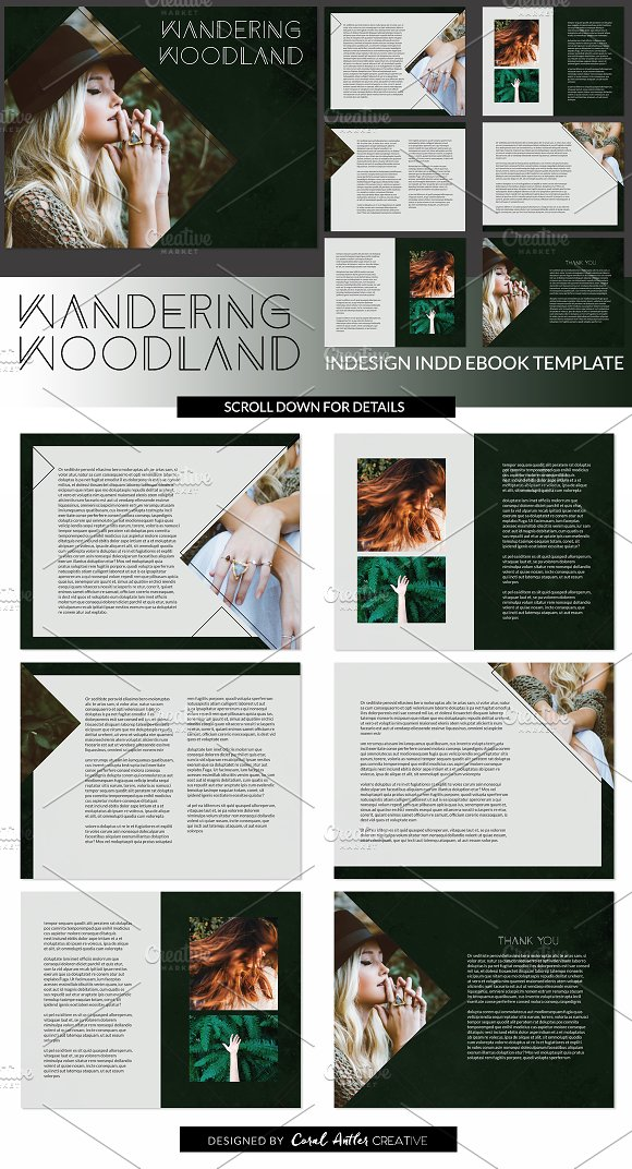 wandering w indd ebook template presentation templates on creative market. Black Bedroom Furniture Sets. Home Design Ideas