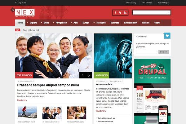 Drupal Themes: ThemeBrain - Drupal News Theme TB Nex