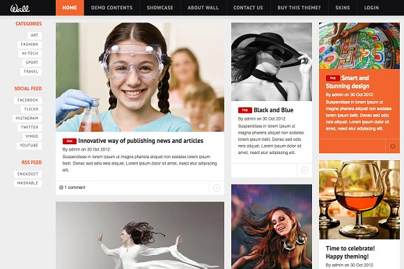 News & CV Drupal Themes TB Wall