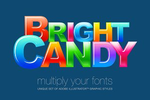 Adobe Illustrator styles Candy