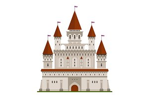 Medieval ancient castle icon