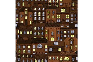 Streets of old town pattern