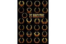 Ancient golden laurel wreaths