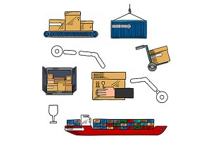 Shipping and courier delivery