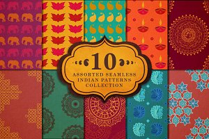 10 seamless indian patterns