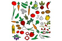 Vegetarian salad ingredients