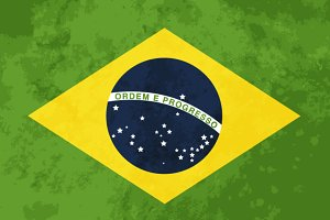 True proportions Brazil flag