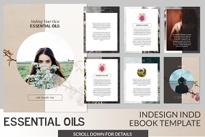 Essential Oils INDD Ebook Template