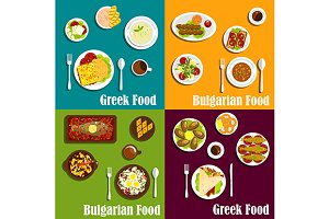 Greek and bulgarian cuisine