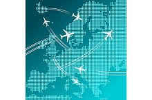 Europe air travel and tourism design