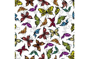 Flying butterflies pattern