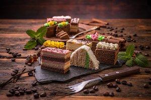 Different decorative cakes