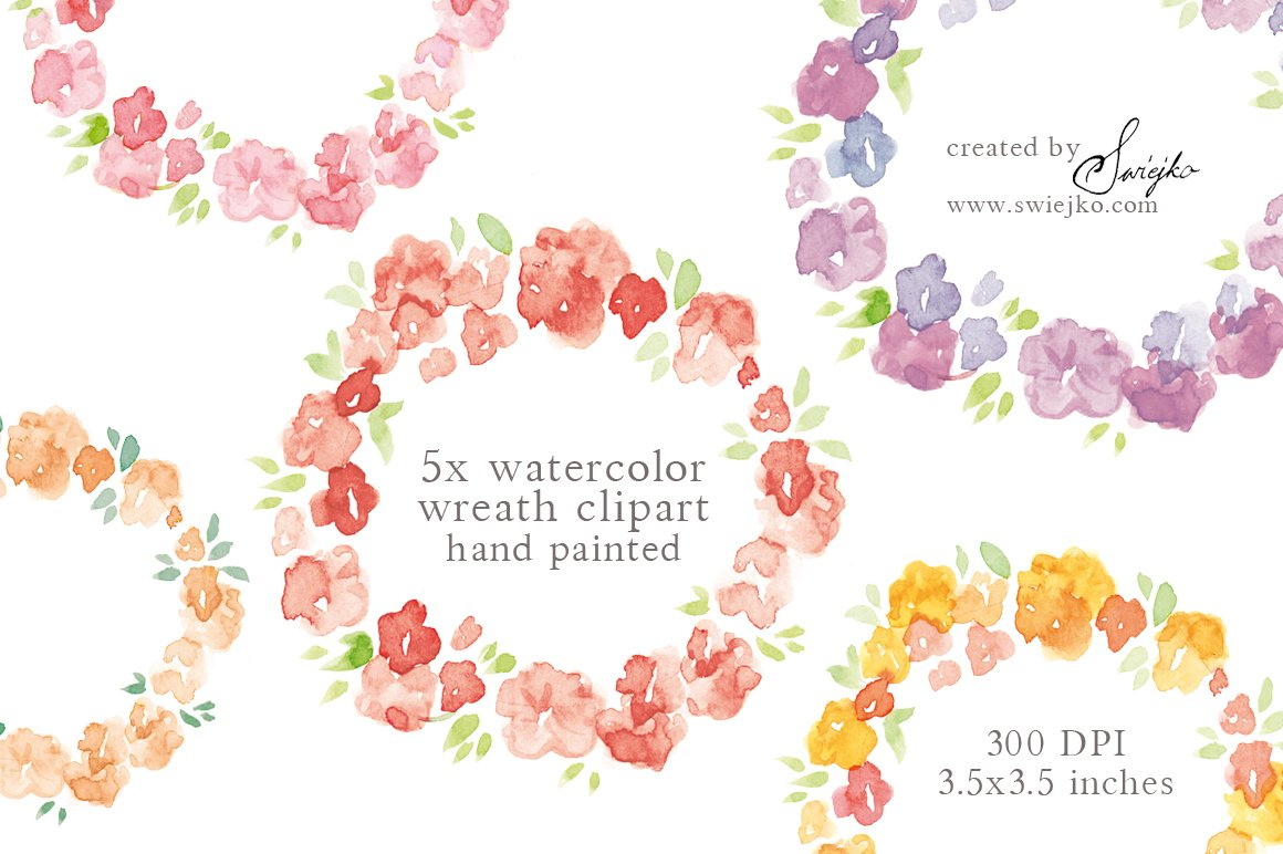 Watercolor Floral Frame Illustrations Creative Market