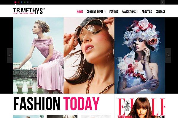 Drupal Themes: ThemeBrain - Fashion Drupal Theme TB Methys II