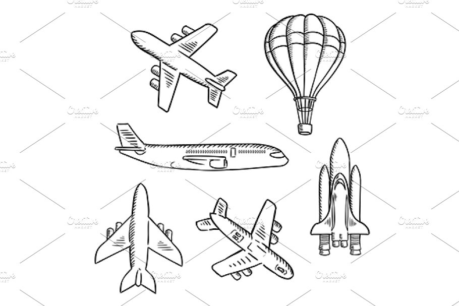 Air transport sketches