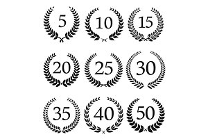 Laurel wreaths symbols
