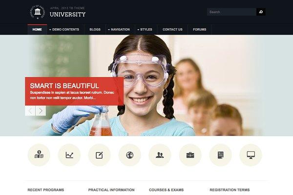Drupal Themes: ThemeBrain - Education Drupal Theme TB University