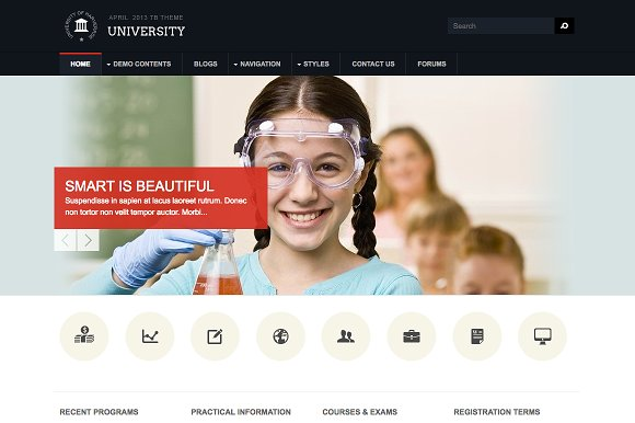 Education Drupal Theme TB University