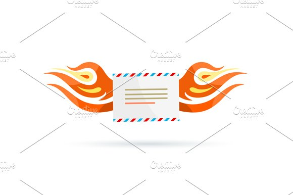 Icon Delivery. Envelope Fire - Illustrations