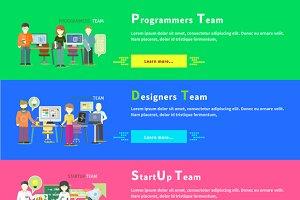 Startup Team. Programmers