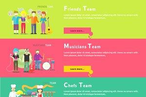 Friends Team. Musicians Group.