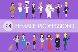 24 different female professions