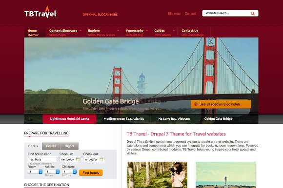 Travel Drupal Theme TB Travel