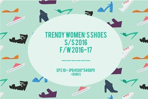 Trendy women's shoes infographic