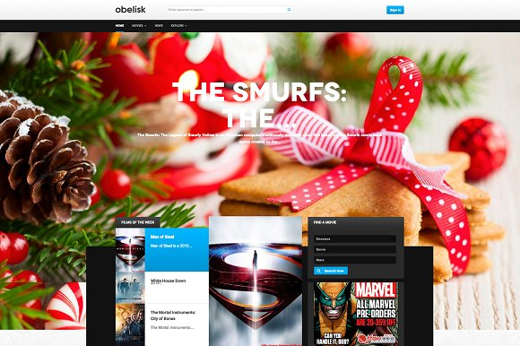 Movie Drupal Theme TB Obelisk