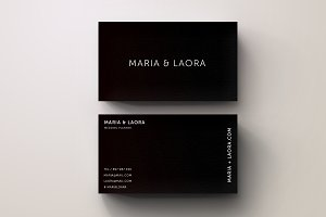 Black & White Modern Business Card