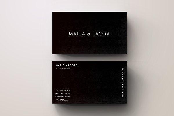 Black & White Modern Business Card