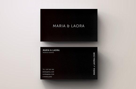 Black White Modern Business Card Templates Creative Market