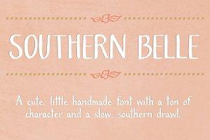 Southern Belle- A Cute Handmade Font