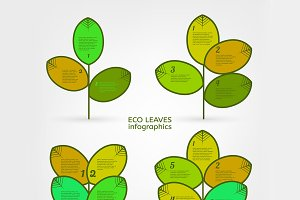 Leaves Infographic Elements