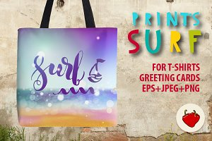 Surf lettering on a summer