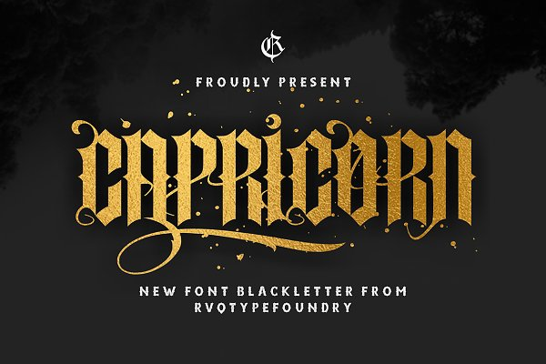 Blackletter Fonts: Rvq Type Foundry - New Capricorn (update)
