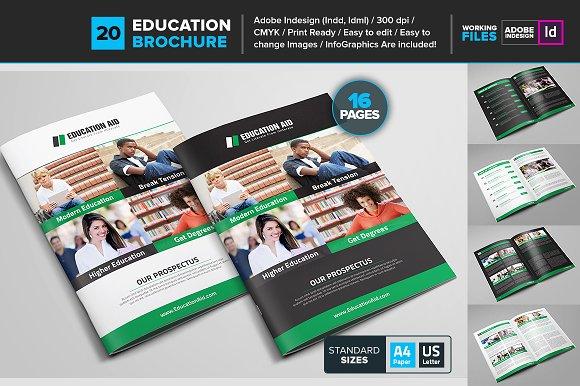 Educational Brochure Template 20 Brochure Templates Creative Market