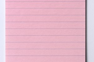 Pink Note Paper