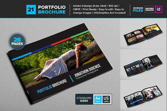 Portfolio Brochure Template 21 Brochure Templates Creative Market