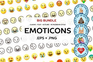 Big emoticon bundle
